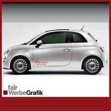 Aufkleber /  Sticker / Dekor / Seitenstreifen /  Fiat 500  / #044