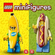 LEGO Minifigures #71008, #71013 - Hot Dog Man + Banana Guy - NEW / NEUF - SEALED