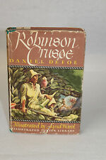 Robinson Crusoe by Daniel Defoe Vintage 1946 Junior Library Illus. by Lynd Ward