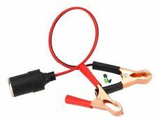 12V Car Battery Socket Cigarette Lighter Adapter With Crocodile Leisure Clips UK