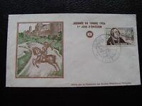 FRANCE - enveloppe 1er jour 17/3/1956 (journee du timbre)  (B14) french