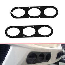 2pcs Aluminum Car Rear Bumper Race Air Diversion Diffuser Panel Universal Black