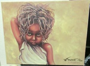 """EUGENIA TALDOTT """"PRIDDY"""" AFRICAN AMERICAN HAND SIGNED GICLEE ON CANVAS PAINTING"""
