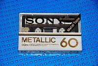 SONY  METALLIC   60  BLANK CASSETTE TAPE (1) (NEW)