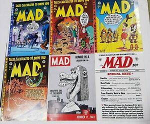 MAD Covers Posters # 7, # 8, # 9, # 10, # 11, #12 1953/1954 From Magazines NEW