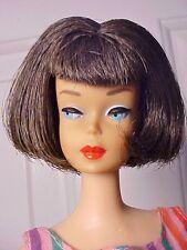 Vint. Barbie 1965/66 COAL BRUNETTE AMERICAN GIRL Doll - Hi Color