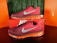 Nike Air Max 2017 Mens Gym Red Maroon White Running Shoes 849559-601 Size 11