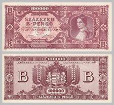 Ungarn / Hungary 100000 B.-Pengö 1946 p133 ss-vzgl / xf - au