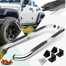 "For 07-18 Jeep Wrangler JK/JKU 4-Dr 3"" Side Step Nerf Bar Running Board Chrome"