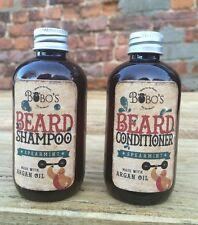 BOBOS BEARD COMPANY BEARD SHAMPOO AND CONDITIONER BEARD WASH TWIN PACK FREE OIL