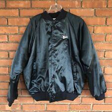 Vintage AUBURN SPORTSWEAR Satin Bomber Jacket XXL Mens Made USA Wendy's 90s Coat