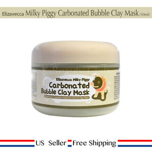 Elizavecca Milky Piggy Carbonated Bubble Clay Mask 100g + Free Sample [ US ]