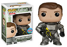 """NYCC EXCLUSIVE FALLOUT POWER ARMOR UNMASKED 3.75"""" VINYL POP FIGURE FUNKO"""