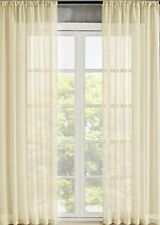 Home 2 Panels Window Sheer Curtains Voile Rod Pocket Solid Multi Color & Size.