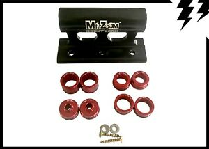 Mt Zoom Cycle/Bike Fork holder/mount for car roof rack/van floor + 4 adaptors