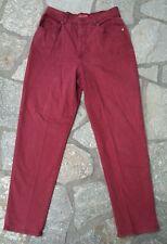 GLORIA VANDERBILT Women's HIGH WAIST Red Burgundy Jeans Size 8 29x30 Tag 14