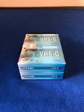 TDK VHS-C Premium 4 Pack Camcorder Compact Video Cassette Tapes New