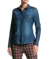 Bogner Jeans Damen Jeansbluse Jeanshemd Strass-Dekor / Used-Waschung