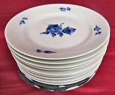 Set of 12 Royal Copenhagen Blue Flower Braided 8097 Dinner Plates - Mint