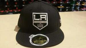 New Era NHL Los Angeles Kings Team Logo Black Youth 59Fifty Fitted Cap NewEra