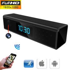 HD 1080P WIFI Camera Hidden Spy Cam Clock Night Vision Monitors Motion Detection