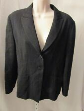 JAEGER BLAZER SUIT soft virgin wool JACKET black white, size 12.  # --b318