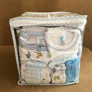 Spasilk Essential Newborn Baby Layette 23 PC Set Blue Dinosaur boy 0 - 6 Months