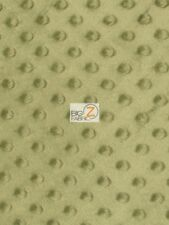 """DIMPLE DOT MINKY FABRIC - Rosemary Green - 60"""" WIDE SEW-SOFT BABY FABRIC RAISED"""