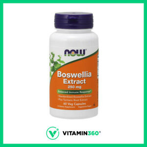 NOW Boswellia Extract 250 mg Balanced Immune Support Joint Support