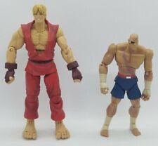 PLEASE READ Street Fighter Ken/Sagat Figure Lot