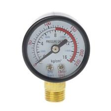 Dual Scale Economical All Purpose Pressure Gauge with Brass Internals 0-220