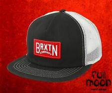 New Brixton Langley Black & White Mens Trucker Snapback Cap Hat