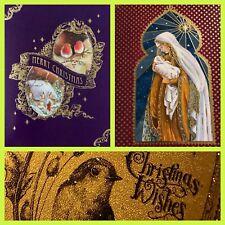 5 x CONFEZIONE MULTIPLA Cartoline di Natale Robin Tradizionale Natale Felice anno Nuovo carte