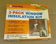 New 1980's Frost King Thermwell USA 3 Pack Window Shrink Insulation Kit FREE S/H