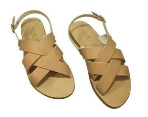 Greek Handmade Sandals Leather Gladiator Ancient Style Slingbacck Women Shoes