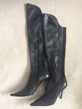 Ladies size 5 (38) soft black leather Moda in Pelle boots, great condition