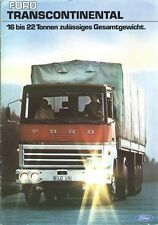 Truck Brochure Ford Transcontinental  c1975 GERMAN language Prospekt (T2202)