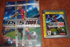 PS3 Jeux Football FIFA 09 + PES 2009 jeu & guide