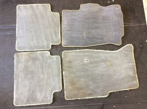 96 97 98 99 00 Civic 2DR Set Of Gray Carpets Floor Mats Floormats Rugs Used OEM