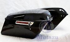 Complete Vivid Black Hard Saddlebags for 2014 2015 2016 Harley Touring Model FL
