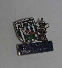 WEST BROMWICH ALBION FC  - VINTAGE 'WEMBLEY 2008' ENAMEL BADGE.