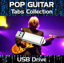 60s 70s 80s 90s 1200+ TABLATURE TAB ROCK POP GUITAR SONG BOOK USB SOFTWARE