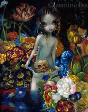 The Offering I Jasmine Becket-Griffith CANVAS PRINT pop surrealism skull art