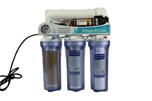 Reverse Osmosis RO Unit with Booster Pump and DI Stage Pumped 50-100gpd