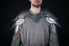 Medieval Pair of pauldrons and metal gorget shoulder armor warrior cosplay