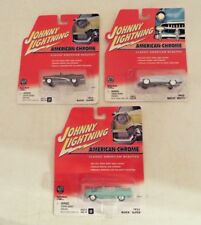 3 Different Johnny Lightning American Chrome 1953 Buick Super NIP