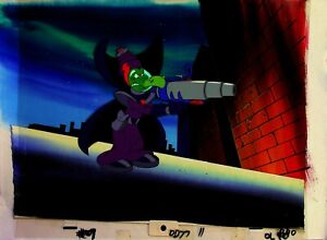 DARKWING DUCK 1991 Production Cartoon Cel and Painted Background Setup #RB