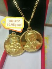 GoldNMore: 18K Gold Necklace And 1pc Pendant 22 inches chain ONPNFG