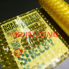 "12"" x 60"" Cat Eyes Golden Yellow Tint Headlight Taillight Fog Light Vinyl Film"