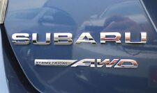 "NEW Genuine OEM Subaru Rear Badge Set  ""Subaru Symmetrical AWD"" 2012 Impreza SED"